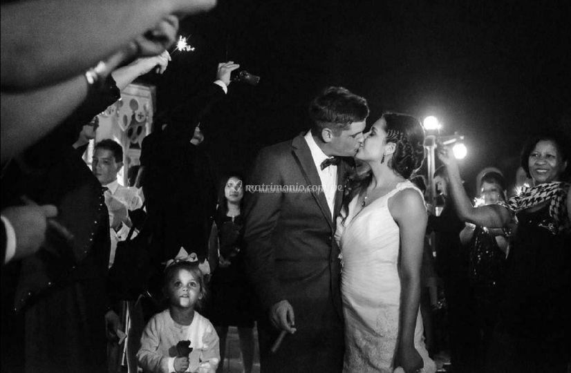 Novios recién casados