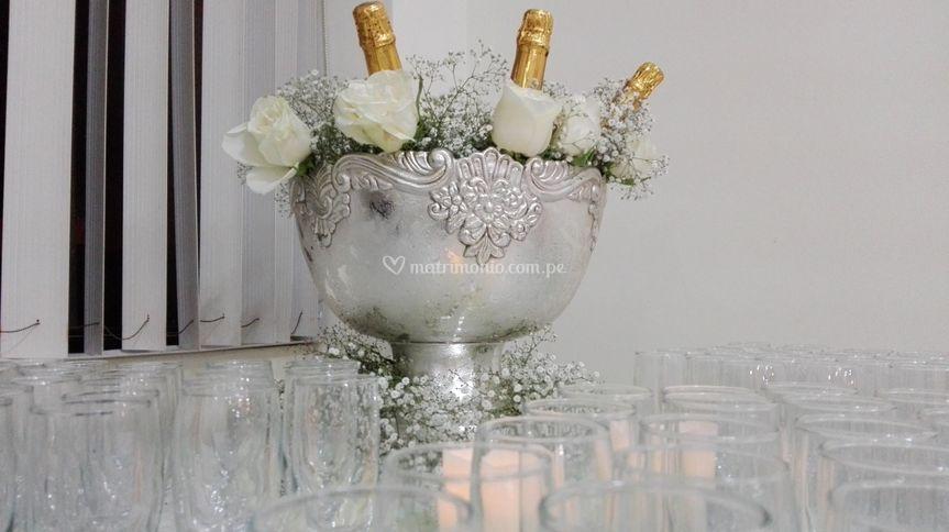 Champañera decorada