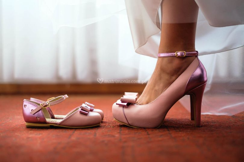 Cuero rosa metalizado