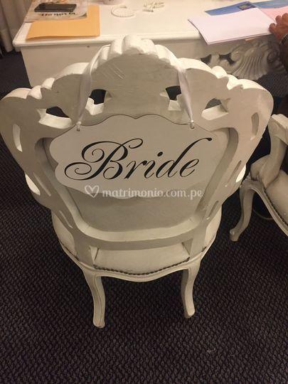 Silla de la novia