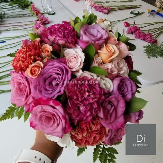 Ramo de novia - colores vivos