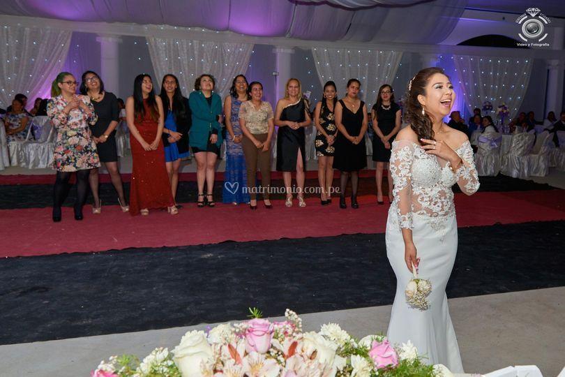 Emoción de la novia