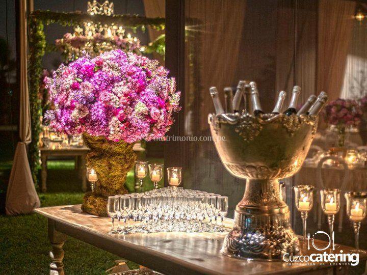 Mesa champagne