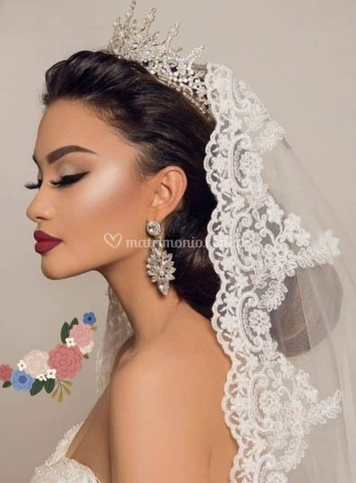 Precioso velo de novia