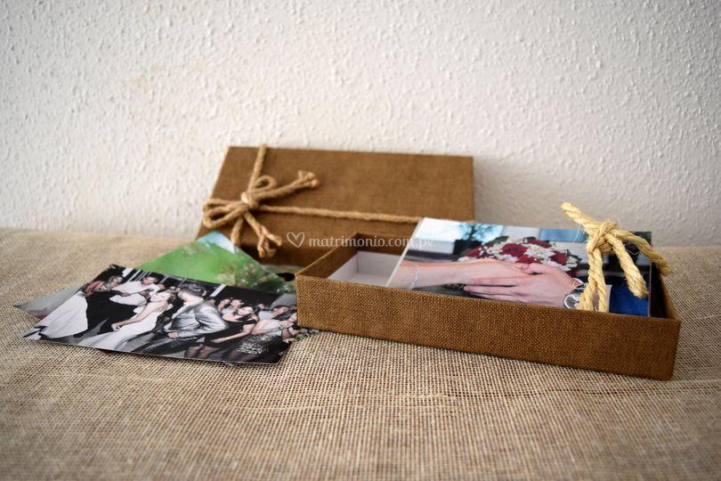 Fotos impresas en caja