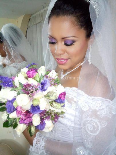 Maquillaje en lilas