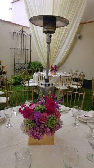 Estufa hongo en bodas de oro