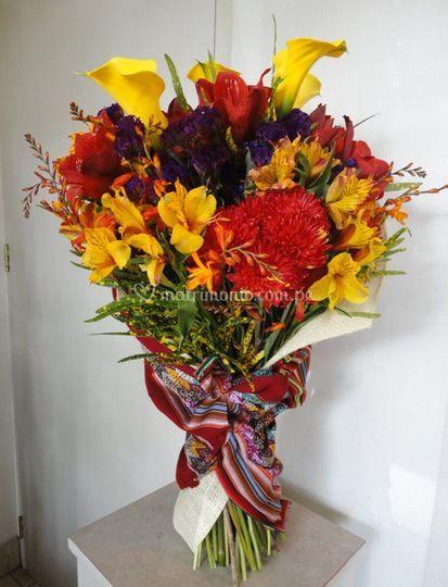 Colorido ramo de flores