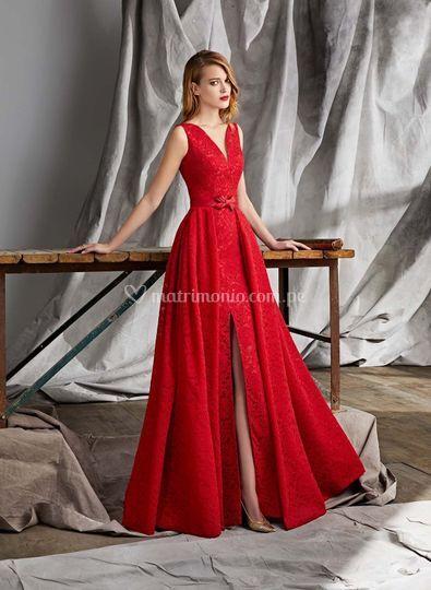 Vestido rojo para invitadas