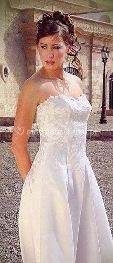 Vestido de novia con piedras