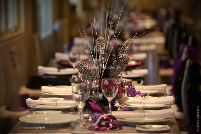 La disposición de las mesas