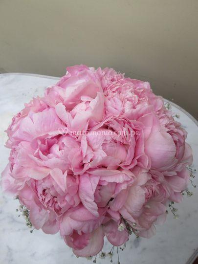 Bouquet en peonías