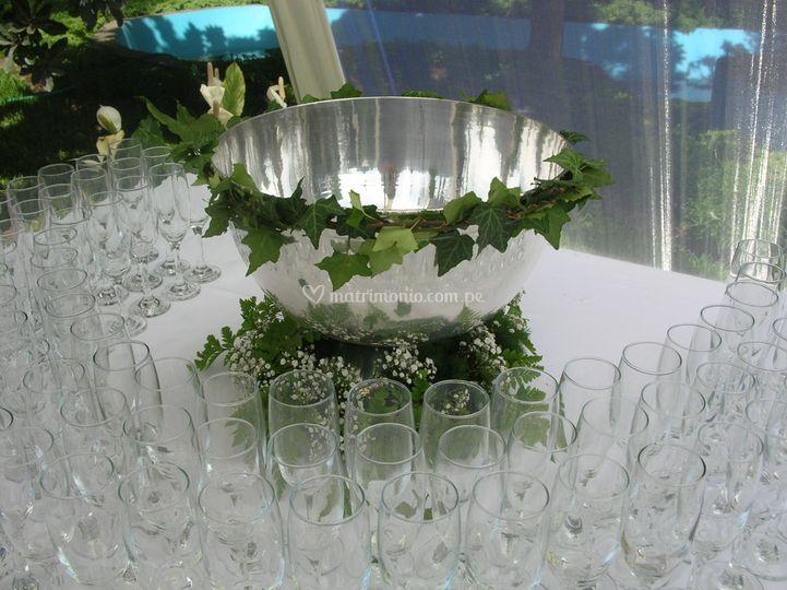 Decoracion mesa champan