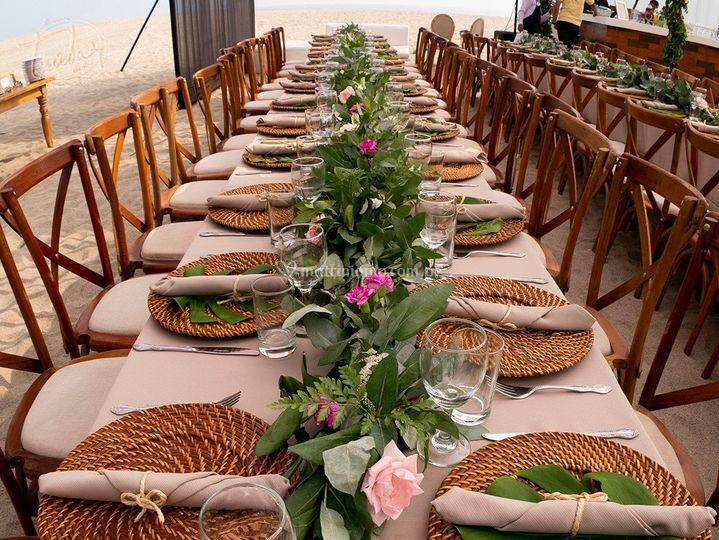 Matrimonio Rustico Santiago : Boda en la playa de tzabar catering gourmet foto 18