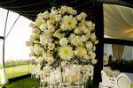 Arreglo floral blanco rosas