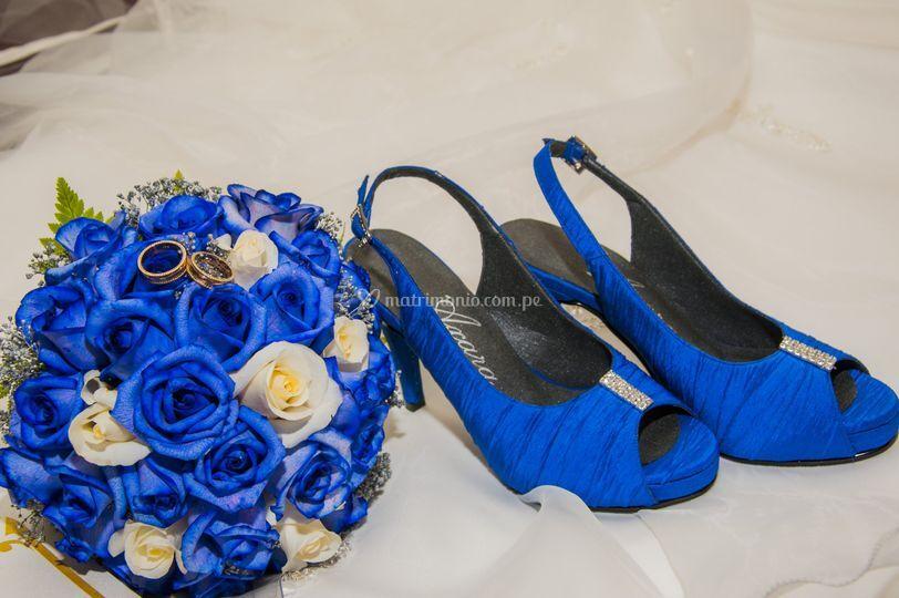 Bouquet y zapatos