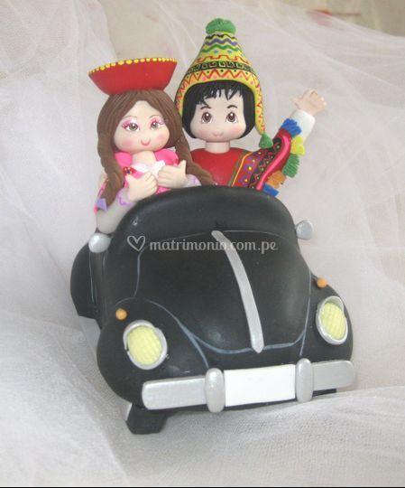 Novios típicos peruanos.