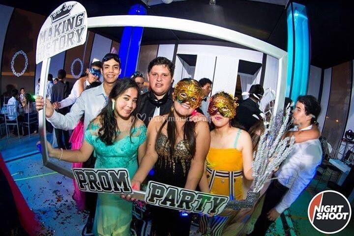Danitza en fiesta de promoción