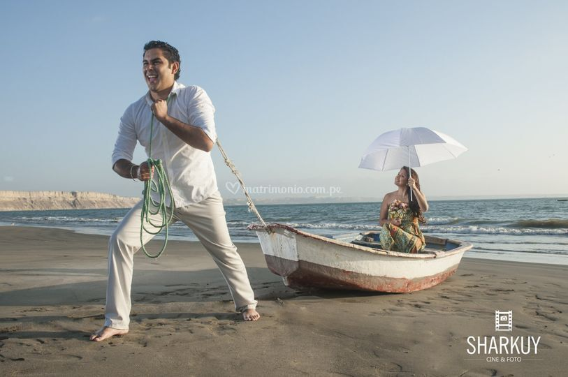 Pre boda en playa Cangrejos
