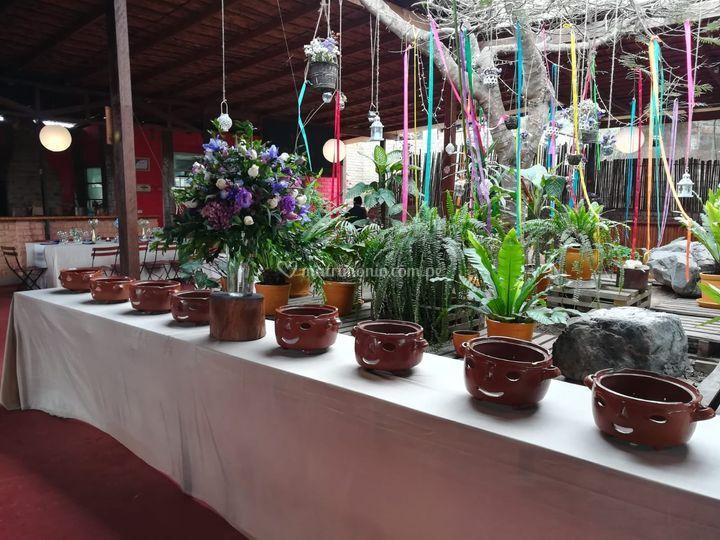 Mesa buffet criollo