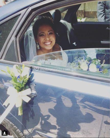 Novios en el día de su boda