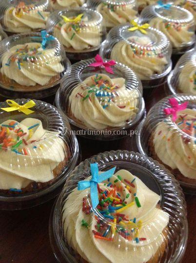 Cupcakes en cajita individual
