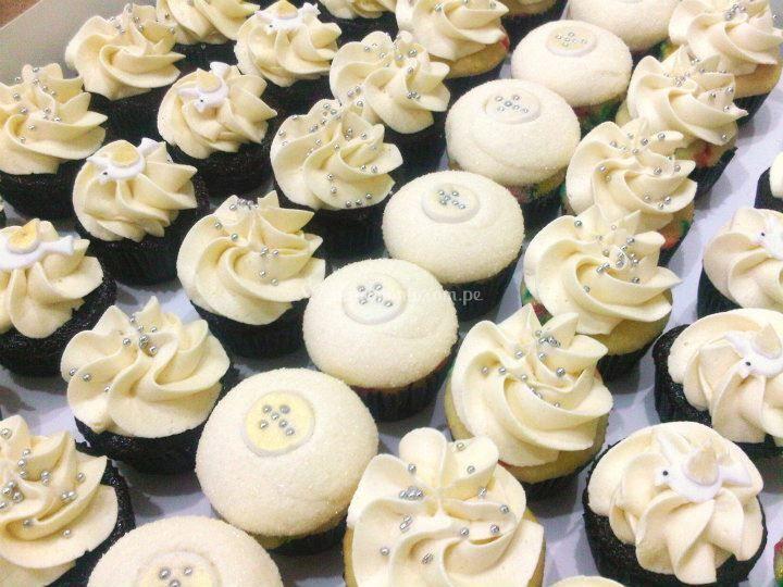 Mini cupcakes blancos