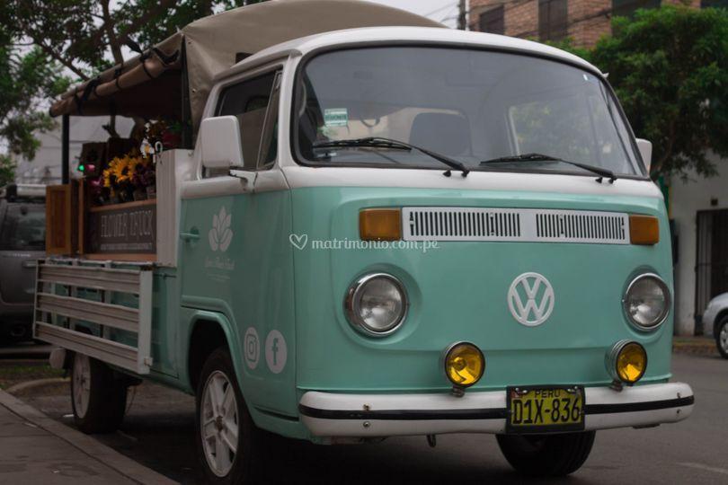 Camión de flores vintage