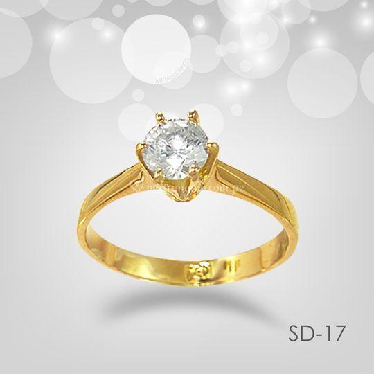 Sd17 solitario clásico 6 uñas