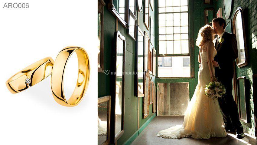 Aros de matrimonio en oro