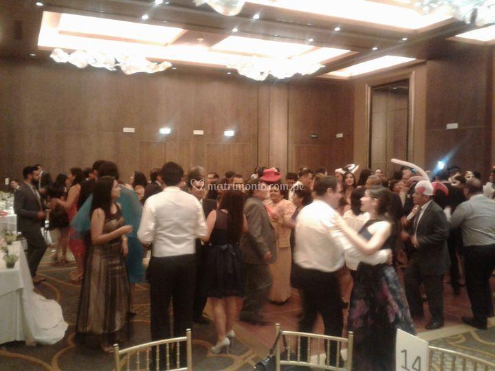 Recepcion de boda hotel hilton