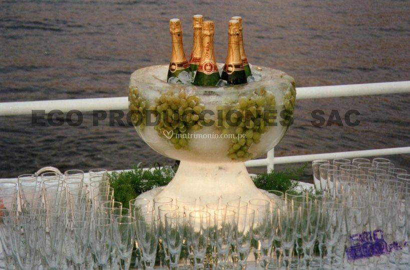 Mesa de champagne