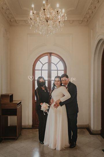 Con mis novios Jhonel y Martha