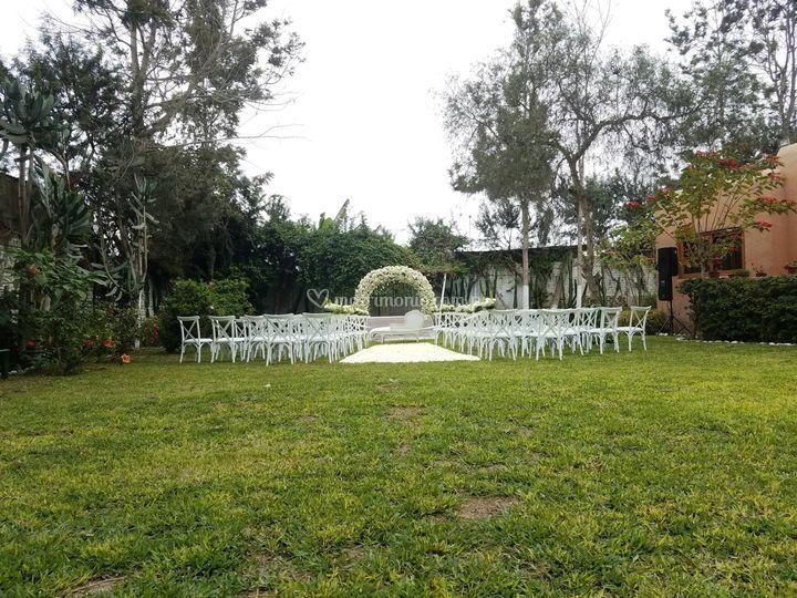Jardín para ceremonia