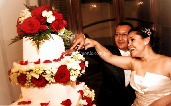 El pastel de bodas
