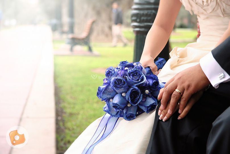 Bouquet en el parque