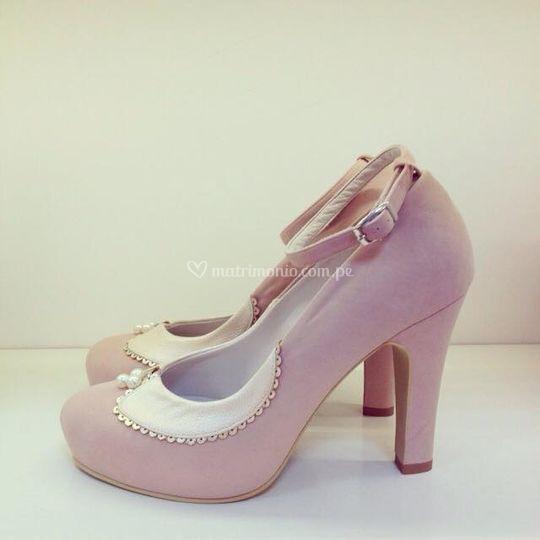 Modelo perla en rosa