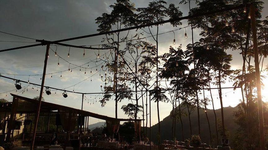 Su boda al aire libre