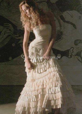 Vestido delicado y romántico