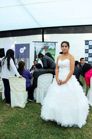 Excelente vestido de novia