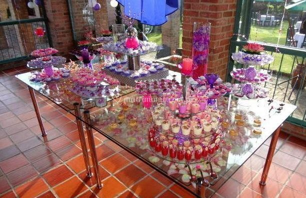 Mesa de dulces para matrimonios