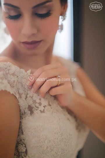 Ana Paula el día de su boda