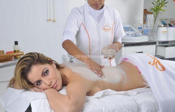 Exfoliación de espalda