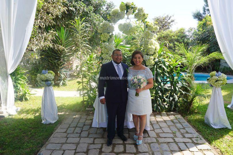 Linda boda civil