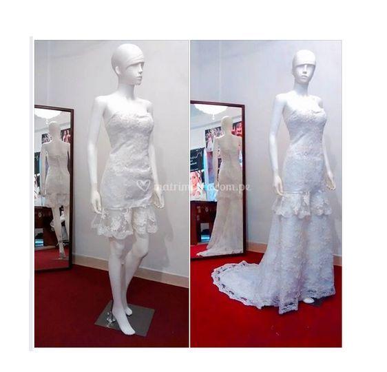 2 vestidos en uno