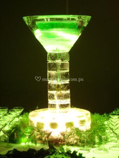 Copa martini con rayas
