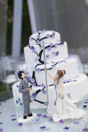 Torta pole dance lila