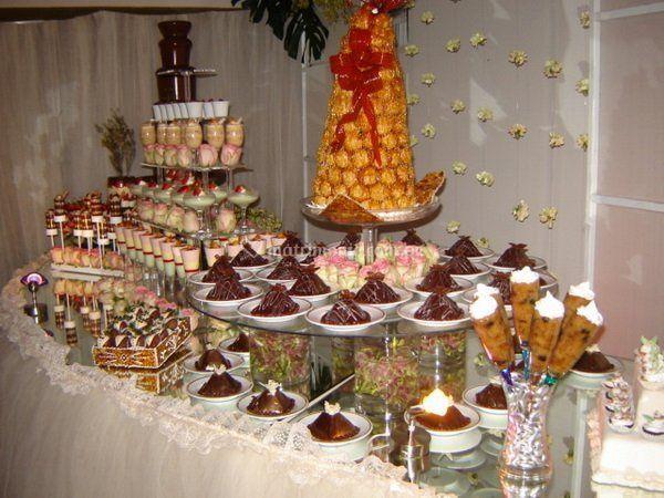 Excelente buffet dulce