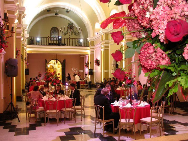 Cena en el salón imperial