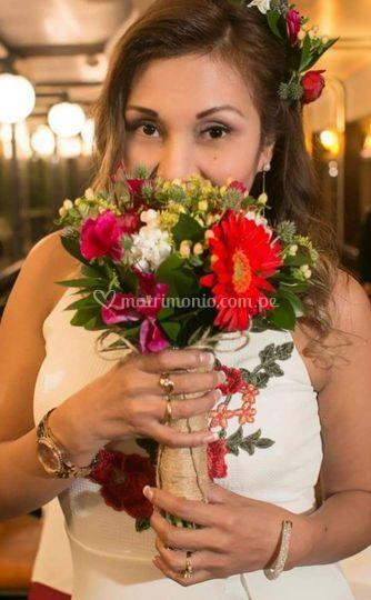 Bella novia Bouquet civil